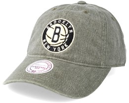 Brooklyn Nets Blast Wash Slouch Strapback Grey Adjustable - Mitchell & Ness