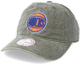 New York Knicks Blast Wash Slouch Strapback Grey Adjustable - Mitchell & Ness