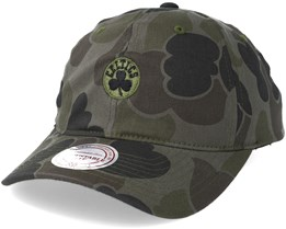 Boston Celtics Slouch Camo Strapback Adjustable - Mitchell & Ness