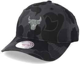 Chicago Bulls Slouch Grey Camo Strapback Adjustable - Mitchell & Ness
