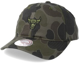 Chicago Bulls Slouch Camo Strapback Adjustable - Mitchell & Ness
