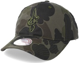 Cleveland Cavaliers Slouch Camo Strapback Adjustable - Mitchell & Ness
