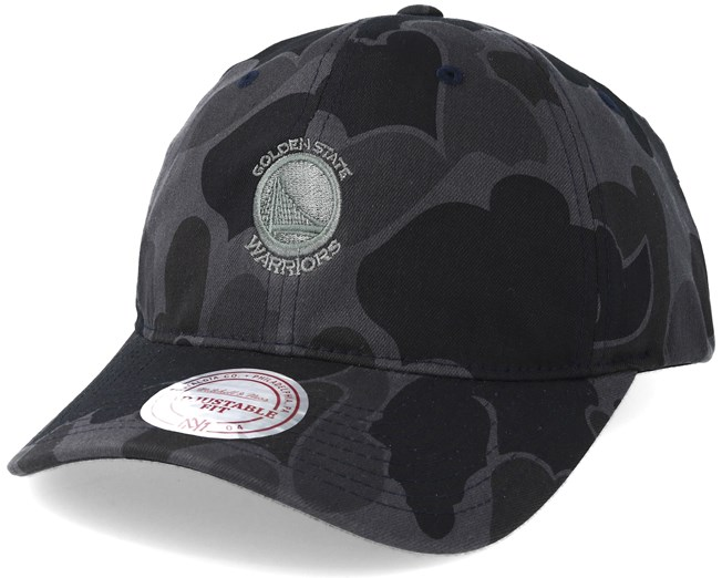 golden state warriors slouch grey camo strapback adjustable mitchell   ness b6082005e10fe