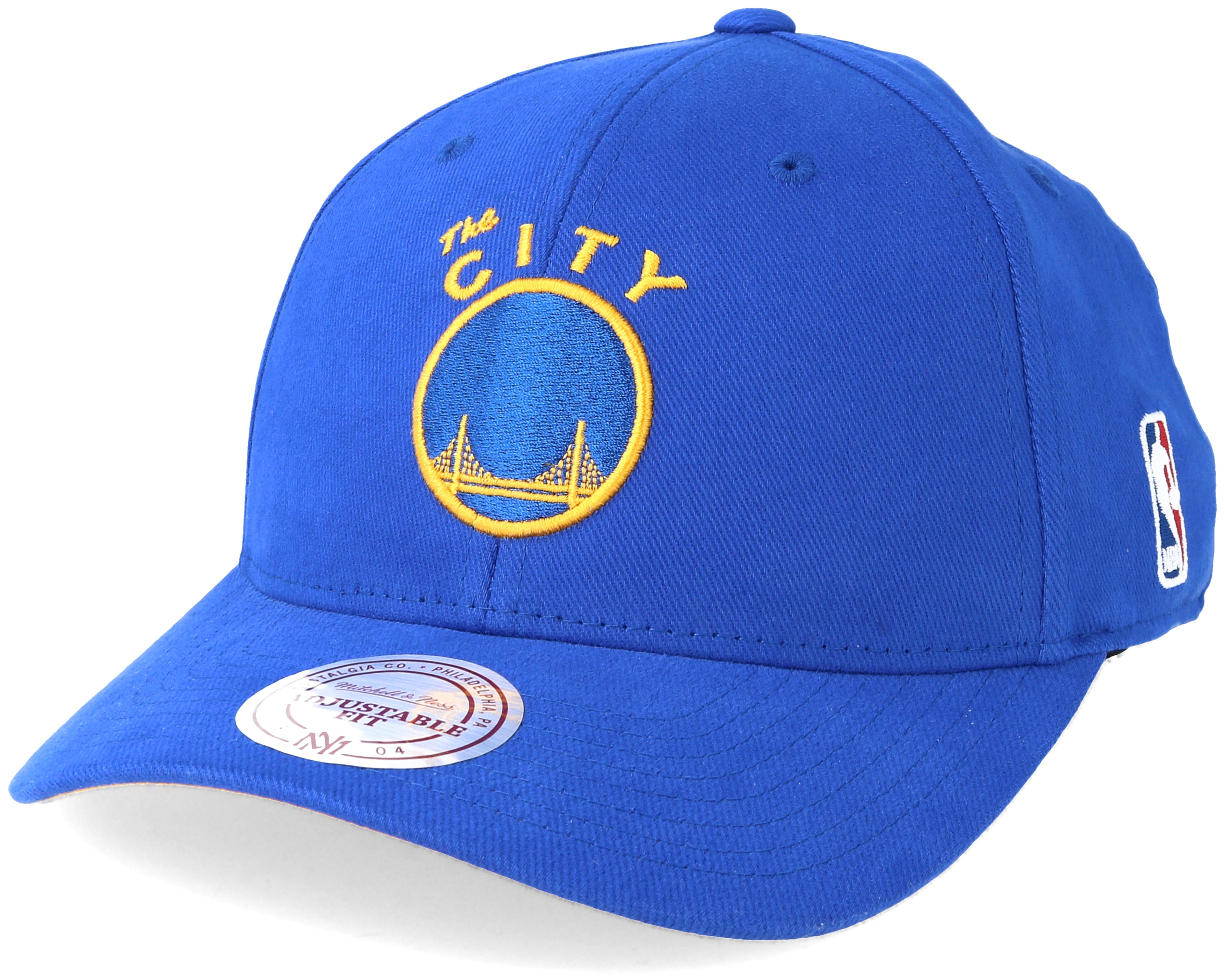 Golden State Warriors Flexfit 110 Low Pro Blue Adjustable - Mitchell ... fa0486584186