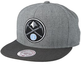 Denver Nuggets Heather Reflective Grey Snapback - Mitchell & Ness