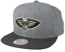 New Orleans Pelicans Heather Reflective Grey Snapback - Mitchell & Ness