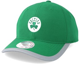 Boston Celtics Running Reflective Trim Slouch Green Adjustable - Mitchell & Ness