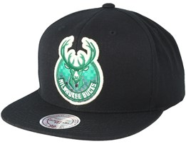 Milwaukee Bucks Easy Three Digital XL Black Snapback - Mitchell & Ness