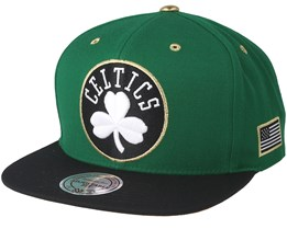 Boston Celtics Gold Tip Green Snapback - Mitchell & Ness