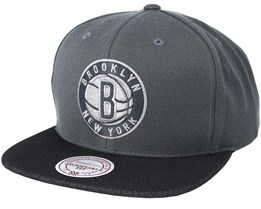 Brooklyn Nets Hologram Mesh Stop On Dime Charcoal Snapback - Mitchell & Ness