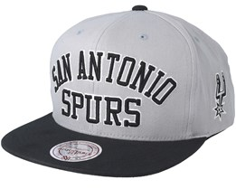 San Antonio Spurs Woodmark Jersey Hooked Grey Snapback - Mitchell & Ness