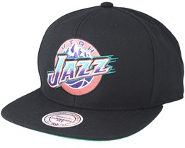 Utah Jazz Wool Wool Solid 2 Black Snapback - Mitchell & Ness