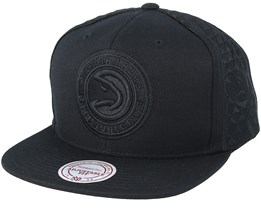 Atlanta Hawks Tonal Short Hook Black Snapback - Mitchell & Ness