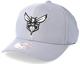 Charlotte Hornets Gull Grey 110 Adjustable - Mitchell & Ness