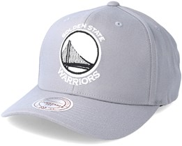 Golden State Warriors Gull Grey Adjustable - Mitchell & Ness