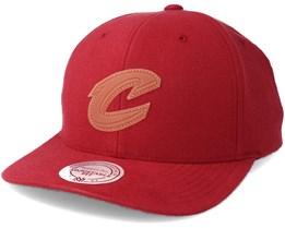 Cleveland Cavaliers Gum Burgundy Snapback - Mitchell & Ness