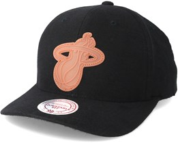 Miami Heat Gum Black Snapback - Mitchell & Ness