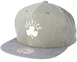 Boston Celtics Washed Twill 2 Tone Olive Snapback - Mitchell & Ness