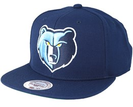 Memphis Grizzlies Wool Solid 2 Navy Snapback - Mitchell & Ness