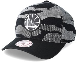 Golden State Warriors Knit 110 Camo Adjustable - Mitchell & Ness