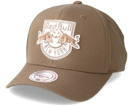 New York Red Bulls Flexfit 110 Camel Adjustable - Mitchell & Ness