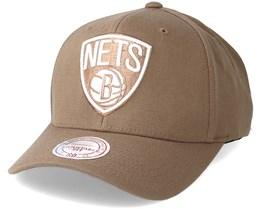 Brooklyn Nets Flexfit 110 Camel Adjustable - Mitchell & Ness