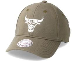 Chicago Bulls Melange Jersey 110 Olive Adjustable -  Mitchell & Ness