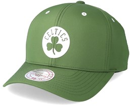Boston Celtics Poly Low Pro Olive Adjustable - Mithcell & Ness