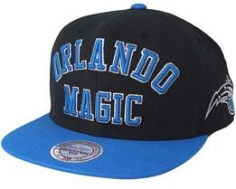 Orlando Magic Woodmark Jersey Hooked Black/Blue Snapback - Mitchell & Ness