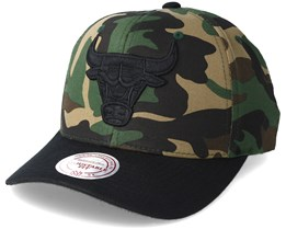 Chicago Bulls 110 Flexfit Camo Adjustable - Mitchell & Ness