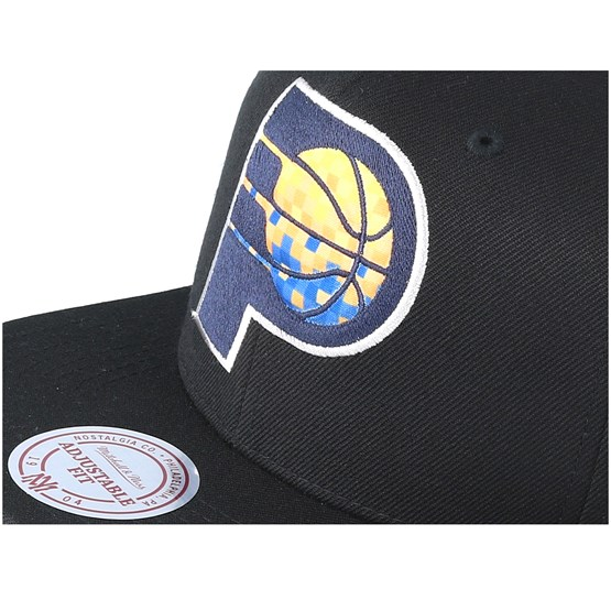 d5857b47337 Indiana Pacers Easy Three Digital XL Black Snapback - Mitchell   Ness caps