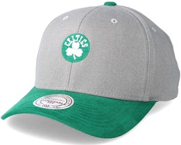 Boston Celtics Hyper Tech Wool Crown Grey Adjustable - Mitchell & Ness