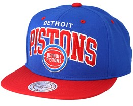 Detroit Pistons Team Arch Black Snapback - Mitchell & Ness