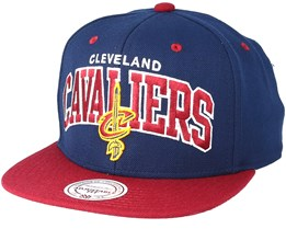 Cleveland Cavaliers Team Arch Navy Snapback - Mitchell & Ness