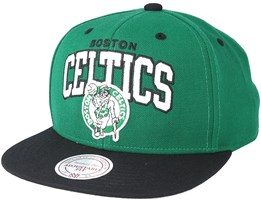 Boston Celtics Team Arch Green Snapback - Mitchell & Ness