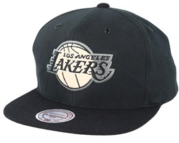 Los Angeles Lakers Terrain Black Snapback - Mitchell & Ness