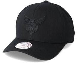 Charlotte Hornets 110 Black Snapback - Mitchell & Ness