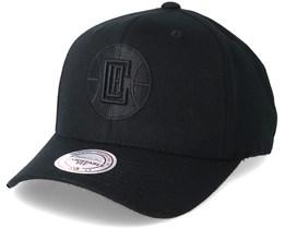 LA Clippers Flexfit 110 Black Adjustable - Mitchell & Ness