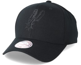 San Antonio Spurs Flexfit 110 Black Adjustable - Mitchell & Ness