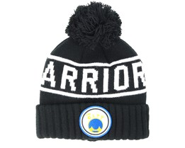 Golden State Warriors Glow In The Dark Knit Black Pom - Mitchell & Ness