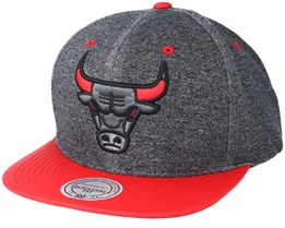 Chicago Bulls Melange Jersey Grey/Red Snapback - Mitchell & Ness