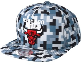 Chicago Bulls Sublimated Micro Peach Camo Snapback - Mitchell & Ness