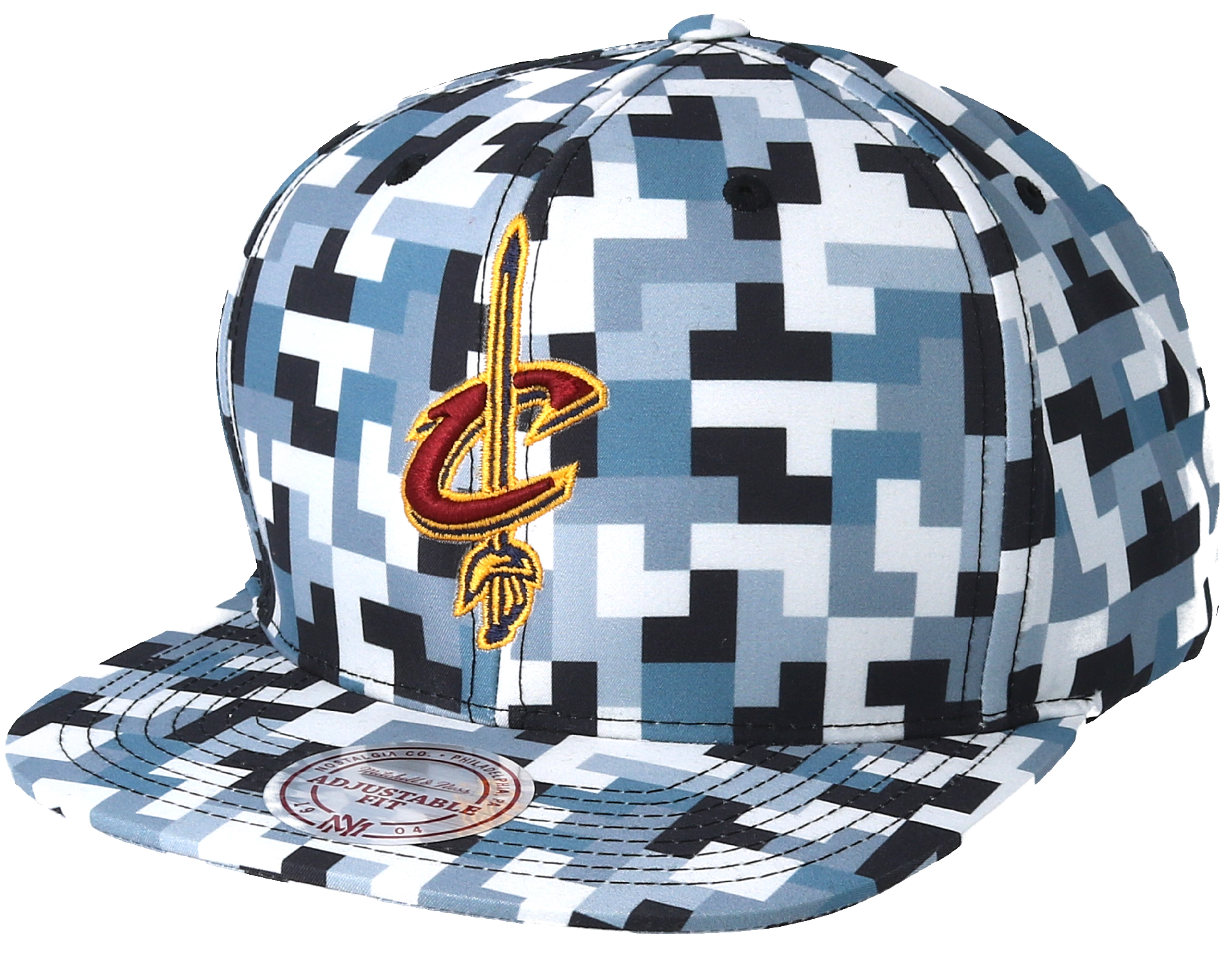 finest selection 1f903 c4277 Cleveland Cavaliers Sublimated Micro Peach Camo Snapback - Mitchell   Ness