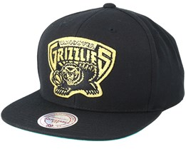 Vancouver Grizzlies Black & Gold Metallic Black Snapback - Mitchell & Ness