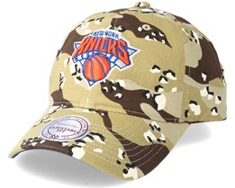 New York Knicks Dad Hat Desert Camo Adjustable - Mitchell & Ness