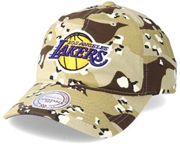 Los Angeles Lakers Dad Hat Desert Camo Adjustable - Mitchell & Ness