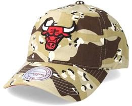 Chicago Bulls Dad Hat Desert Camo Adjustable - Mitchell & Ness