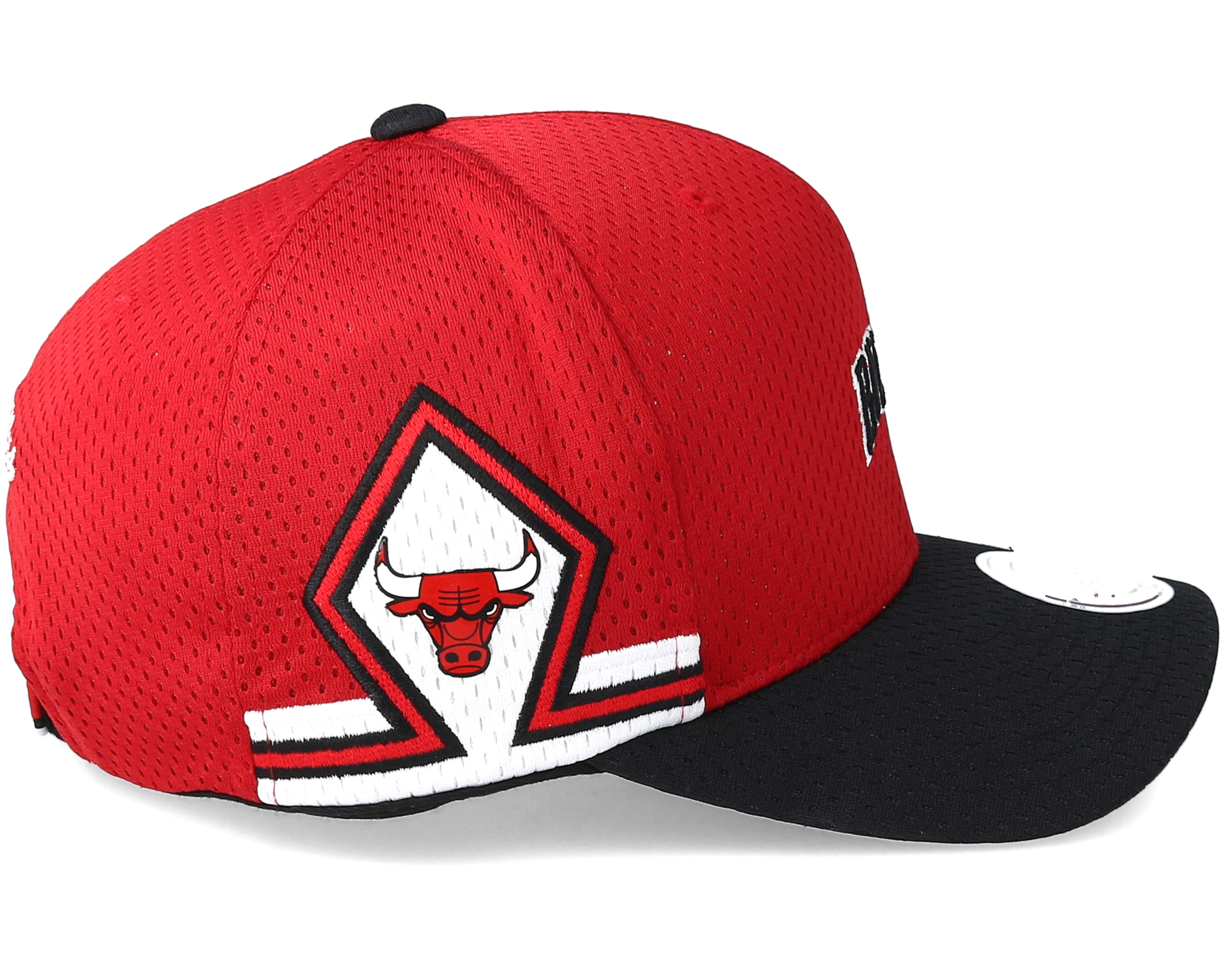 chicago bulls jersey hook loop red adjustable mitchell. Black Bedroom Furniture Sets. Home Design Ideas
