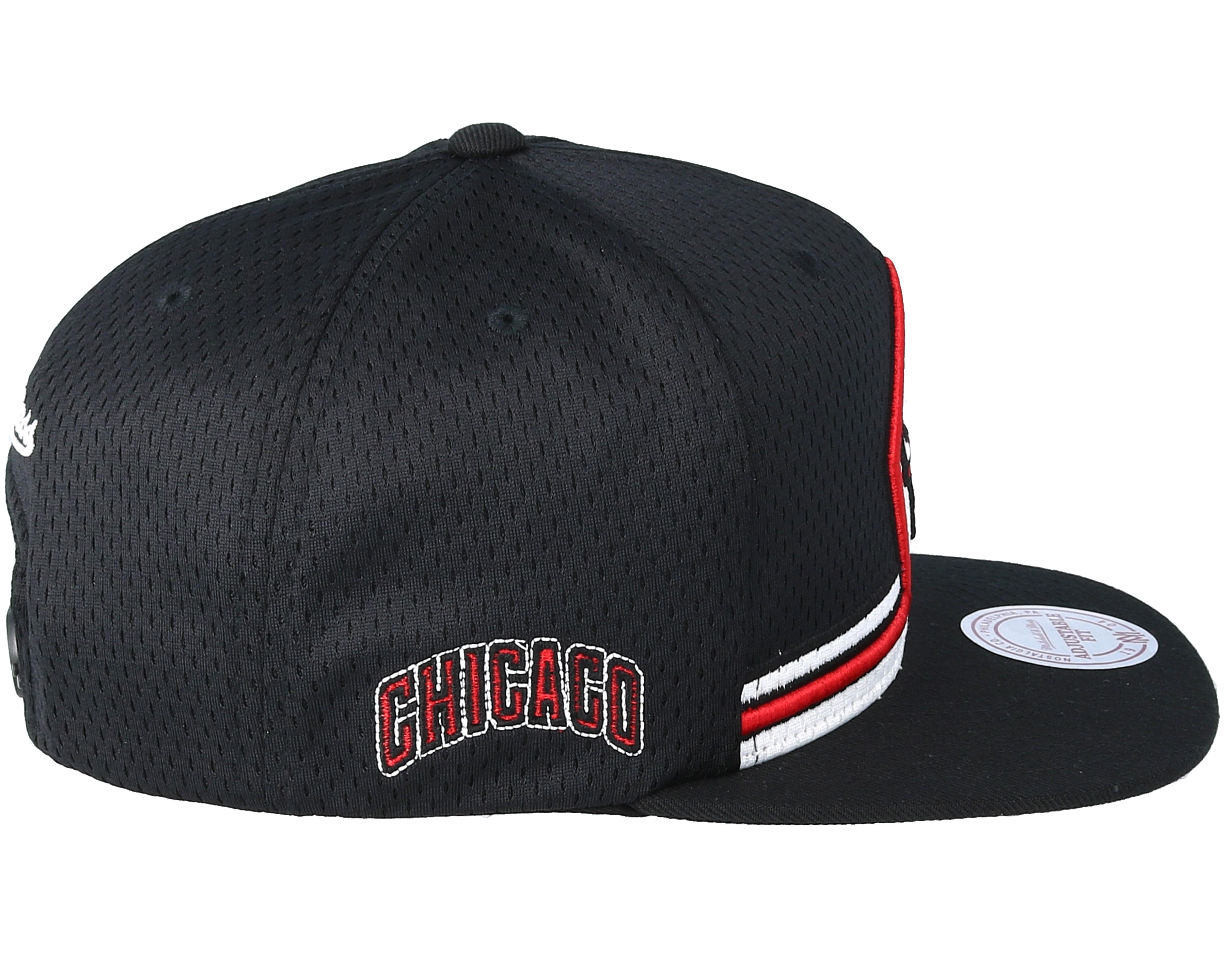 chicago bulls jersey black snapback mitchell ness caps. Black Bedroom Furniture Sets. Home Design Ideas