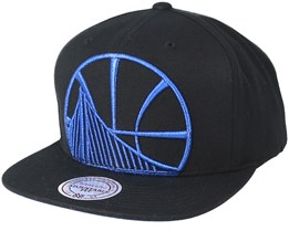 Golden State Warriors Metallic Tc Cropped Black Snapback - Mitchell & Ness